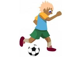 Sticker garçon Football passeur