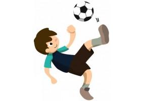 Sticker garçon Football papillon