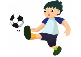 Sticker garçon Football tireur en action