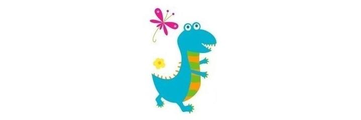 Stickers dino rigolos chambre enfant le monde du - Dinosaure rigolo ...