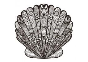 Sticker coquillage motif