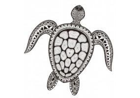 Sticker coquillage tortue
