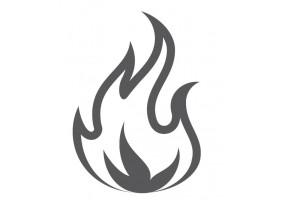 Sticker flamme gris