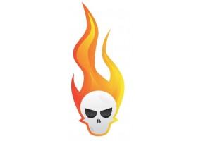 Sticker flamme tête de mort