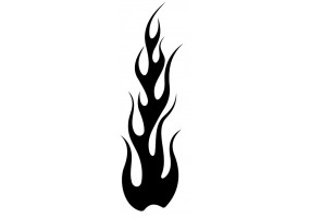 Sticker flamme noir