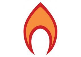 Sticker flamme rouge et orange
