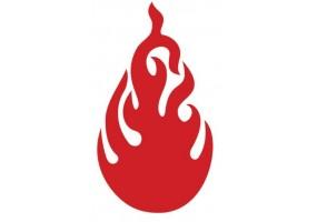 Sticker flamme rouge