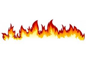 Sticker voiture tuning flamme