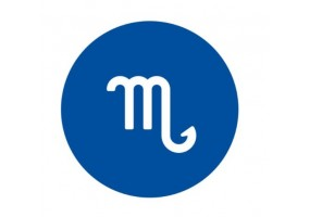 Sticker signe du zodiaque bleu fonce