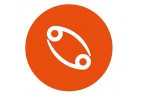 Sticker signe du zodiaque orange foncé