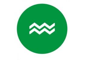 Sticker signe du zodiaque vert