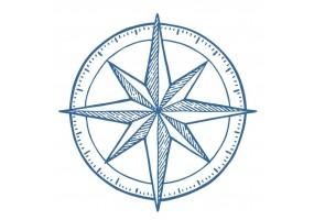 Sticker marin bateau boussole