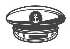 Sticker marin accessoire noir et blanc