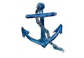 Sticker marin ancre bleu