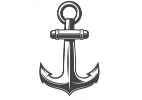Sticker marin ancre noir