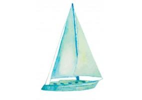 Sticker marin bateau aquarelle