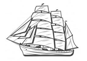 Sticker marin bateau