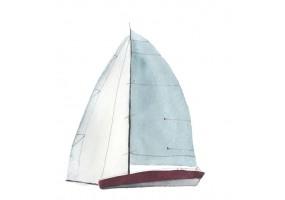 Sticker marin bateau voile