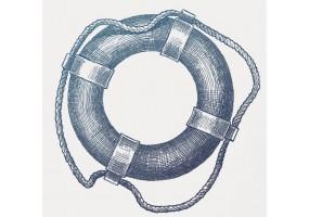 Sticker marin bouée bleue