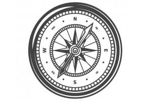 Sticker marin boussole