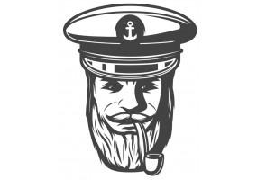 Sticker marin capitaine
