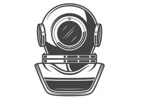 Sticker marin casque