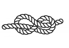 Sticker marin corde nœud