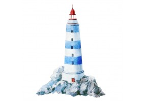 Sticker marin phare bleu