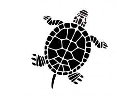 Sticker marin tortue noir et blanc