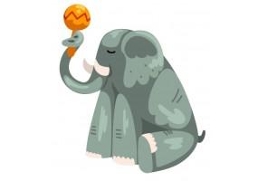 Sticker musique éléphant