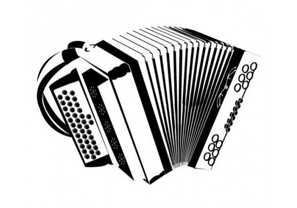 Sticker musique instrument accordéon