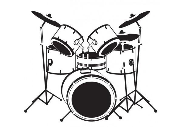 Sticker musique instrument batterie