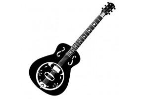 Sticker musique guitare noire