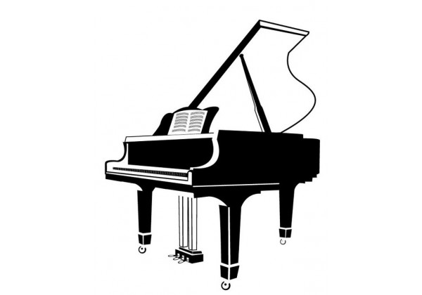 Sticker musique instrument piano
