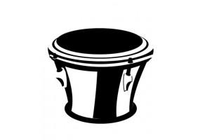 Sticker musique instrument tam-tam