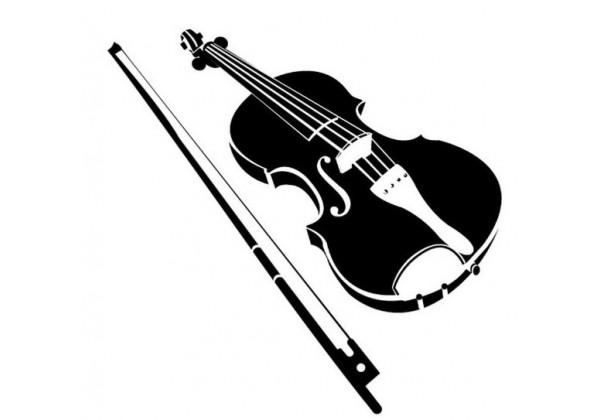 Sticker musique instrument violon