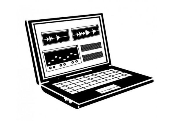 Sticker musique ordinateur