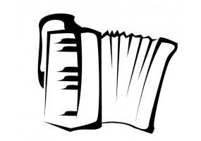 Sticker musique ours