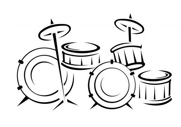 Sticker musique batterie