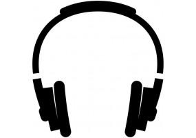 Sticker musique casque
