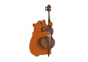 Sticker musique castor