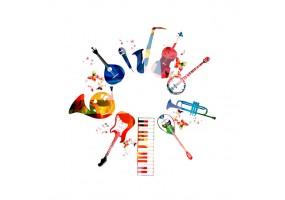 Sticker musique composition d'instruments