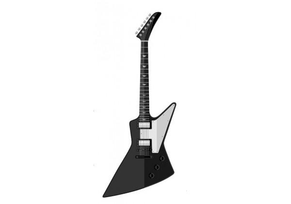 Sticker musique guitare électrique