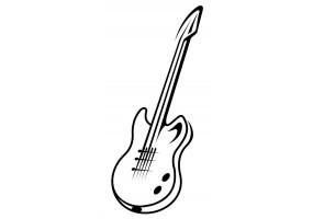 Sticker musique guitare électrique noir