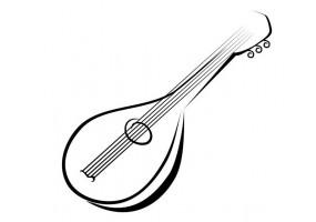Sticker musique guitare