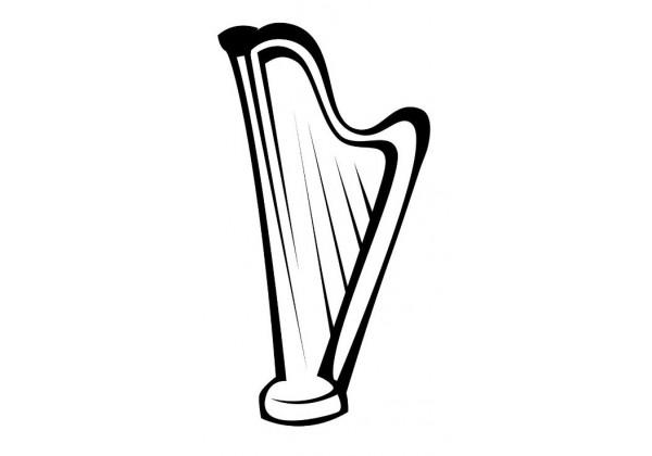 Sticker musique harpe