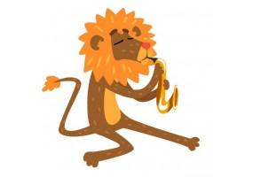 Sticker musique lion