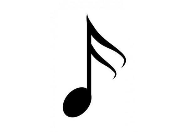 Sticker note de musique noire