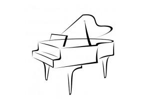 Sticker musique piano