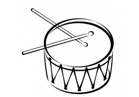 Sticker musique tambour
